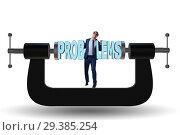 Купить «Business problem and challenge concept with businessman», фото № 29385254, снято 15 декабря 2018 г. (c) Elnur / Фотобанк Лори
