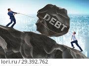 Купить «Business concept of debt and borrowing», фото № 29392762, снято 15 декабря 2018 г. (c) Elnur / Фотобанк Лори