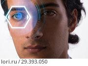 Купить «Concept of sensor implanted into human eye», фото № 29393050, снято 14 ноября 2018 г. (c) Elnur / Фотобанк Лори