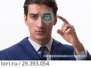 Купить «Concept of sensor implanted into human eye», фото № 29393054, снято 14 ноября 2018 г. (c) Elnur / Фотобанк Лори