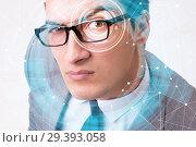 Купить «Concept of sensor implanted into human eye», фото № 29393058, снято 14 ноября 2018 г. (c) Elnur / Фотобанк Лори