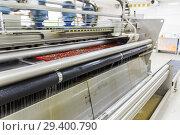 Купить «Automatic washing and cleaning of carpets. Industrial line for washing carpets», фото № 29400790, снято 19 июня 2017 г. (c) Евгений Ткачёв / Фотобанк Лори