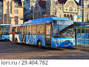 Купить «Linkker buses, first fast-charging electric buses in Finland. Хельсинки», фото № 29404782, снято 24 сентября 2018 г. (c) Валерия Попова / Фотобанк Лори