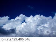 Купить «кучевые облака, Фон», фото № 29406546, снято 27 октября 2018 г. (c) Tamara Kulikova / Фотобанк Лори
