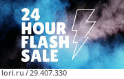 Купить «Digitally generated video of flash sale 4k», видеоролик № 29407330, снято 25 мая 2019 г. (c) Wavebreak Media / Фотобанк Лори