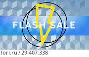 Купить «Digitally generated video of flash sale 4k», видеоролик № 29407338, снято 25 мая 2019 г. (c) Wavebreak Media / Фотобанк Лори