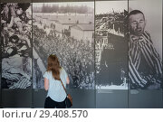 Купить «Dachau, Germany, Museum in the Dachau concentration camp memorial site», фото № 29408570, снято 3 июня 2017 г. (c) Caro Photoagency / Фотобанк Лори
