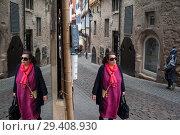 Купить «Tuebingen, Germany, Paved Lane in the Old Town», фото № 29408930, снято 6 июня 2017 г. (c) Caro Photoagency / Фотобанк Лори