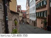 Купить «Tuebingen, Germany, Paved Lane in the Old Town», фото № 29409150, снято 5 июня 2017 г. (c) Caro Photoagency / Фотобанк Лори