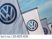 Купить «Poland, VW logos at Volkswagen Poznan», фото № 29409438, снято 24 мая 2018 г. (c) Caro Photoagency / Фотобанк Лори