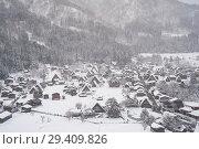 Купить «Shirakawa-go, Japan, view of the snow-covered winter landscape », фото № 29409826, снято 28 декабря 2017 г. (c) Caro Photoagency / Фотобанк Лори