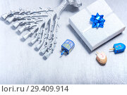 Купить «Background of Jewish holiday Hanukkah. The Religious symbols», фото № 29409914, снято 10 ноября 2018 г. (c) Константин Сенявский / Фотобанк Лори