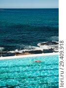 Купить «Sydney, Australia, Swimmer at Bondi Icebergs Swimming Club », фото № 29409918, снято 21 сентября 2018 г. (c) Caro Photoagency / Фотобанк Лори