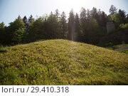 "Купить «""Bavaria, Germany - concentration camp memorial Flossenbuerg, """"Valley of Death"""" with the pyramid of ashes""», фото № 29410318, снято 5 мая 2018 г. (c) Caro Photoagency / Фотобанк Лори"