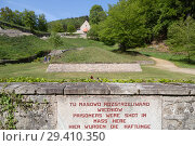 "Купить «""Bavaria, Germany - concentration camp memorial Flossenbuerg, """"Valley of Death"""" with the pyramid of ashes""», фото № 29410350, снято 5 мая 2018 г. (c) Caro Photoagency / Фотобанк Лори"