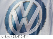 Купить «Poland, VW logo at Volkswagen Poznan», фото № 29410414, снято 24 мая 2018 г. (c) Caro Photoagency / Фотобанк Лори