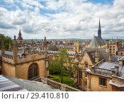 Купить «Exeter College and Bodleian Library as seen from the cupola of Sheldonian Theatre. Oxford. England», фото № 29410810, снято 15 мая 2009 г. (c) Serg Zastavkin / Фотобанк Лори