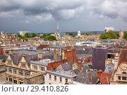 Купить «Oxford skyline as seen from the top of Carfax Tower. Oxford University. England», фото № 29410826, снято 15 мая 2009 г. (c) Serg Zastavkin / Фотобанк Лори