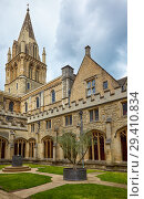 Купить «The crossing tower of Christ Church Cathedral. Oxford University. England», фото № 29410834, снято 15 мая 2009 г. (c) Serg Zastavkin / Фотобанк Лори