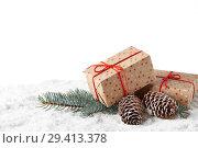 Купить «New Year and Christmas background», фото № 29413378, снято 5 ноября 2018 г. (c) Мельников Дмитрий / Фотобанк Лори