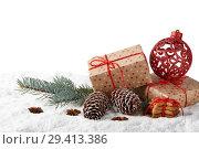 Купить «New Year and Christmas background», фото № 29413386, снято 5 ноября 2018 г. (c) Мельников Дмитрий / Фотобанк Лори