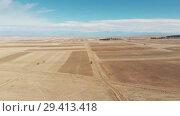 Купить «Desert in Georgia beautiful expanses of steppe and blue sky», видеоролик № 29413418, снято 6 ноября 2018 г. (c) Aleksejs Bergmanis / Фотобанк Лори