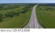 Автомагистраль М11, платный участок в Тверском районе. Стоковое видео, видеограф Кекяляйнен Андрей / Фотобанк Лори