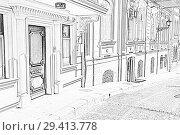 Купить «Улица Кичик Гала старого города Баку. Республика Азербайджан», иллюстрация № 29413778 (c) Евгений Ткачёв / Фотобанк Лори