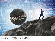 Купить «Business concept of debt and borrowing», фото № 29423454, снято 15 декабря 2018 г. (c) Elnur / Фотобанк Лори