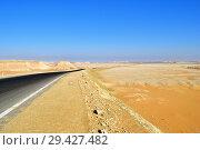 Купить «Road in Sahara desert, Egypt», фото № 29427482, снято 28 декабря 2008 г. (c) Знаменский Олег / Фотобанк Лори