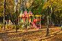 Купить «Детская игровая площадка на Измайловском проспекте. Район Измайлово. Город Москва», эксклюзивное фото № 29428314, снято 16 октября 2018 г. (c) lana1501 / Фотобанк Лори