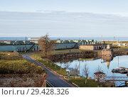 Купить «General view of Fort Constantine with defenses and inner harbor, Kronstadt, Russia», фото № 29428326, снято 4 ноября 2018 г. (c) Юлия Бабкина / Фотобанк Лори