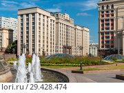 Купить «Здание Государственной Думы.   Москва», эксклюзивное фото № 29428474, снято 14 сентября 2018 г. (c) Александр Щепин / Фотобанк Лори