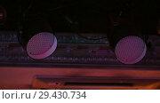 Купить «Bright stage lights flashing», видеоролик № 29430734, снято 10 декабря 2018 г. (c) Константин Шишкин / Фотобанк Лори