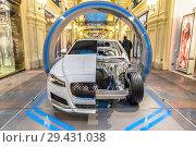 Купить «Фестиваль инноваций и технологий Jaguar Land Rover Future Fest. ГУМ, Москва», фото № 29431038, снято 9 ноября 2018 г. (c) Владимир Сергеев / Фотобанк Лори