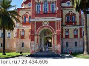 Купить «New Athos, Abkhazia - June 3. 2018. entrance to Novy Afonsky for men Monastery», фото № 29434606, снято 3 июня 2018 г. (c) Володина Ольга / Фотобанк Лори