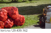 Купить «Mobile receiving point of waste recycling. environmental movement RAZdelniy sbor», видеоролик № 29439162, снято 2 июня 2018 г. (c) Ирина Мойсеева / Фотобанк Лори