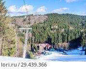 Купить «Ski resort Marianky. Marianske Lazne (Marienbad) - Czech Republic», фото № 29439366, снято 30 января 2018 г. (c) Николай Коржов / Фотобанк Лори