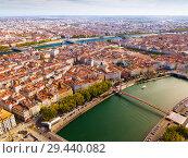 Купить «Aerial view of Lyon», фото № 29440082, снято 12 октября 2018 г. (c) Яков Филимонов / Фотобанк Лори