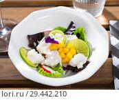 Купить «Whitefish ceviche with mango and lime», фото № 29442210, снято 18 июля 2019 г. (c) Яков Филимонов / Фотобанк Лори
