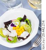 Купить «Cod ceviche with mango and lime», фото № 29442214, снято 21 ноября 2019 г. (c) Яков Филимонов / Фотобанк Лори