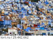 Купить «Blue city Chefchaouen in Morocco», фото № 29442662, снято 17 февраля 2018 г. (c) Михаил Коханчиков / Фотобанк Лори