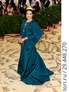 Купить «Celebs flock to the Costume Institute Gala at the Metropolitan Museum in NYC Featuring: Lynda Carter Where: Manhattan, New York, United States When: 08 May 2018 Credit: Rob Rich/WENN.com», фото № 29448270, снято 8 мая 2018 г. (c) age Fotostock / Фотобанк Лори