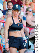 Купить «Katie Price and Kerry Katona manage opposing teams during the Sellebrity Soccer match at the Checkatrade Stadium in Crawley, West Sussex Featuring: Danniella...», фото № 29448642, снято 7 мая 2018 г. (c) age Fotostock / Фотобанк Лори