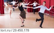 Купить «People dancing lindy hop», фото № 29450178, снято 24 мая 2017 г. (c) Яков Филимонов / Фотобанк Лори