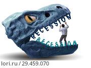 Купить «Businessman in crisis and recession concept», фото № 29459070, снято 18 марта 2019 г. (c) Elnur / Фотобанк Лори