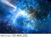Звездные скопления и галактики в ночном небе. Стоковое фото, фотограф Евгений Ткачёв / Фотобанк Лори