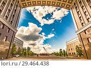 Казахстан. Астана. Бульвар Нуржол. Редакционное фото, фотограф Сергеев Валерий / Фотобанк Лори