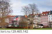 Купить «Cityscape of Copenhagen, Denmark», фото № 29465142, снято 10 декабря 2017 г. (c) EugeneSergeev / Фотобанк Лори