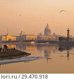 Весенний Санкт-Петербург. Река Нева (2009 год). Стоковое фото, фотограф Александр Алексеев / Фотобанк Лори